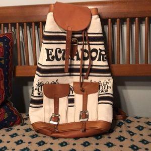 Handbags - Leather & Canvas Ecuador Bag